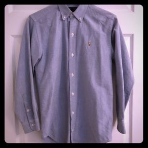 Polo b Ralph Lauren button down. L//S. Boys sz. 14
